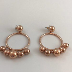 Kate Spade new Large Bauble Hoops w dangling balls